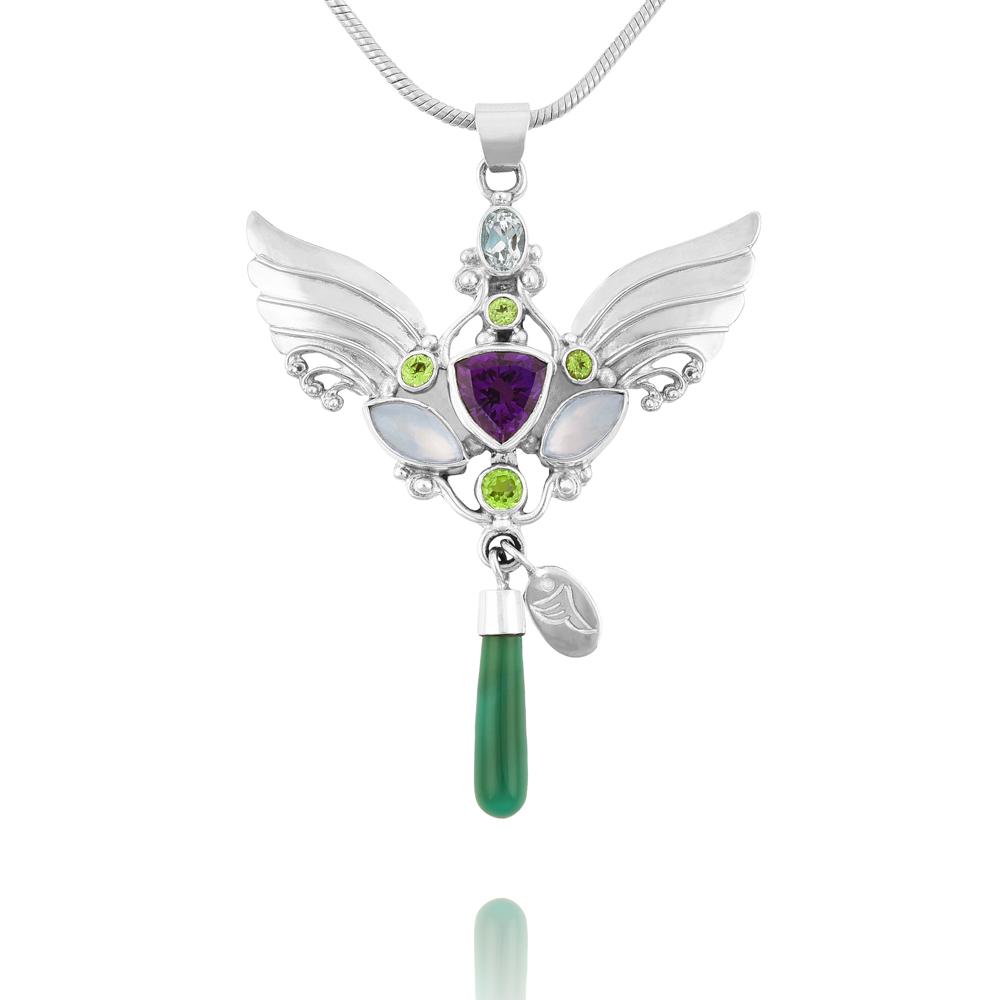 Silver Kwan Yin Necklace