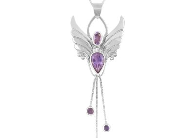 amethyst angel necklace for protection