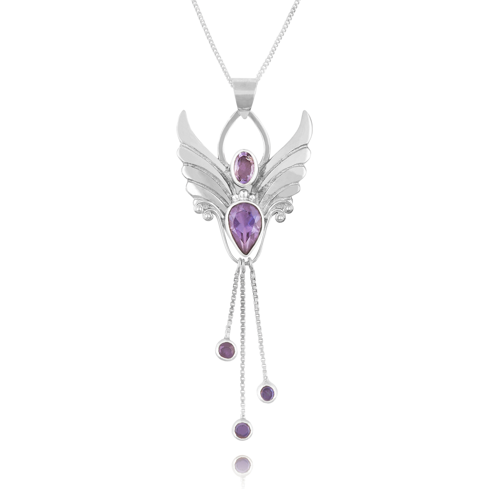 Angel pendant amethyst, love