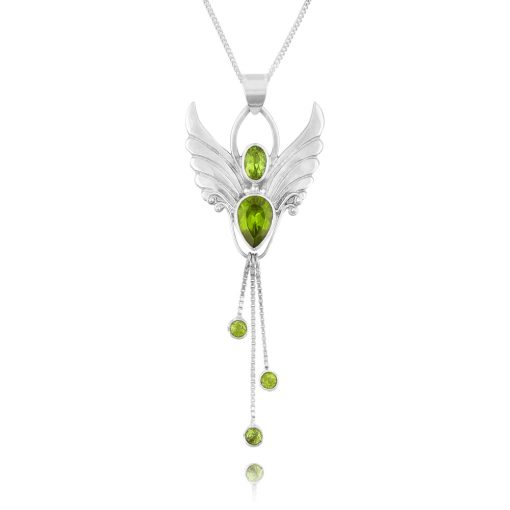 silver august angel pendant necklace