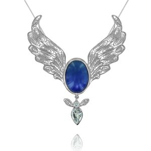 Angel jewellery angel pendants archangel necklaces mary queen of angels pendant aloadofball Images