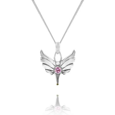 silver baby angel pendant