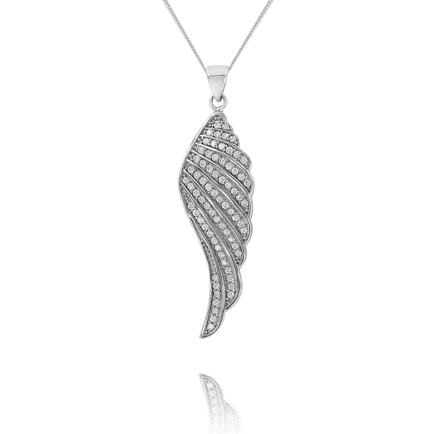 diamond pendant by gold mainye mini luxurman necklace angel wing
