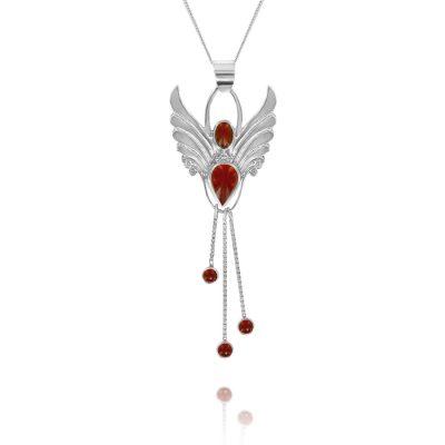 carnelian fertility angel pendant