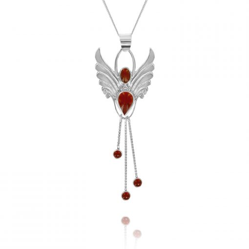 carnelian fertility angel pendant