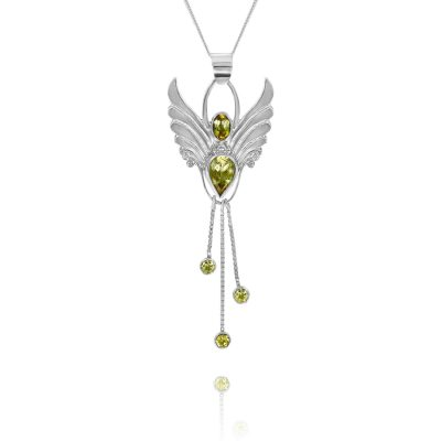 Citrine Angel Pendant