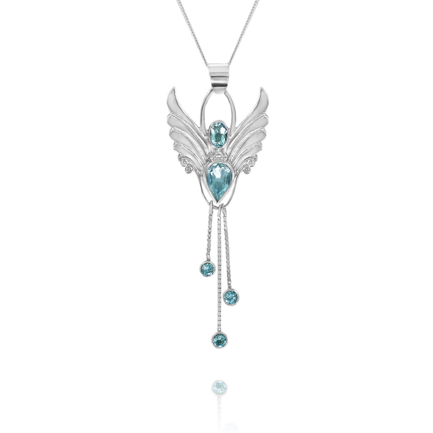 March angel pendants aquamarine angel jewellery angel necklace for self confidence aloadofball Gallery