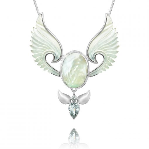 The divine feminine angel necklace