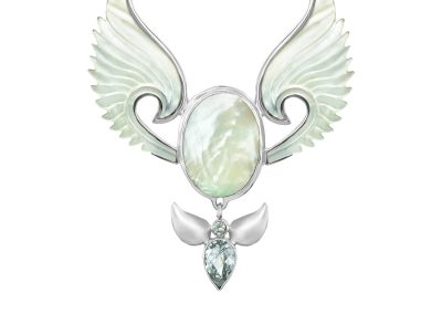 Divine Feminine Angel Pendant Necklace