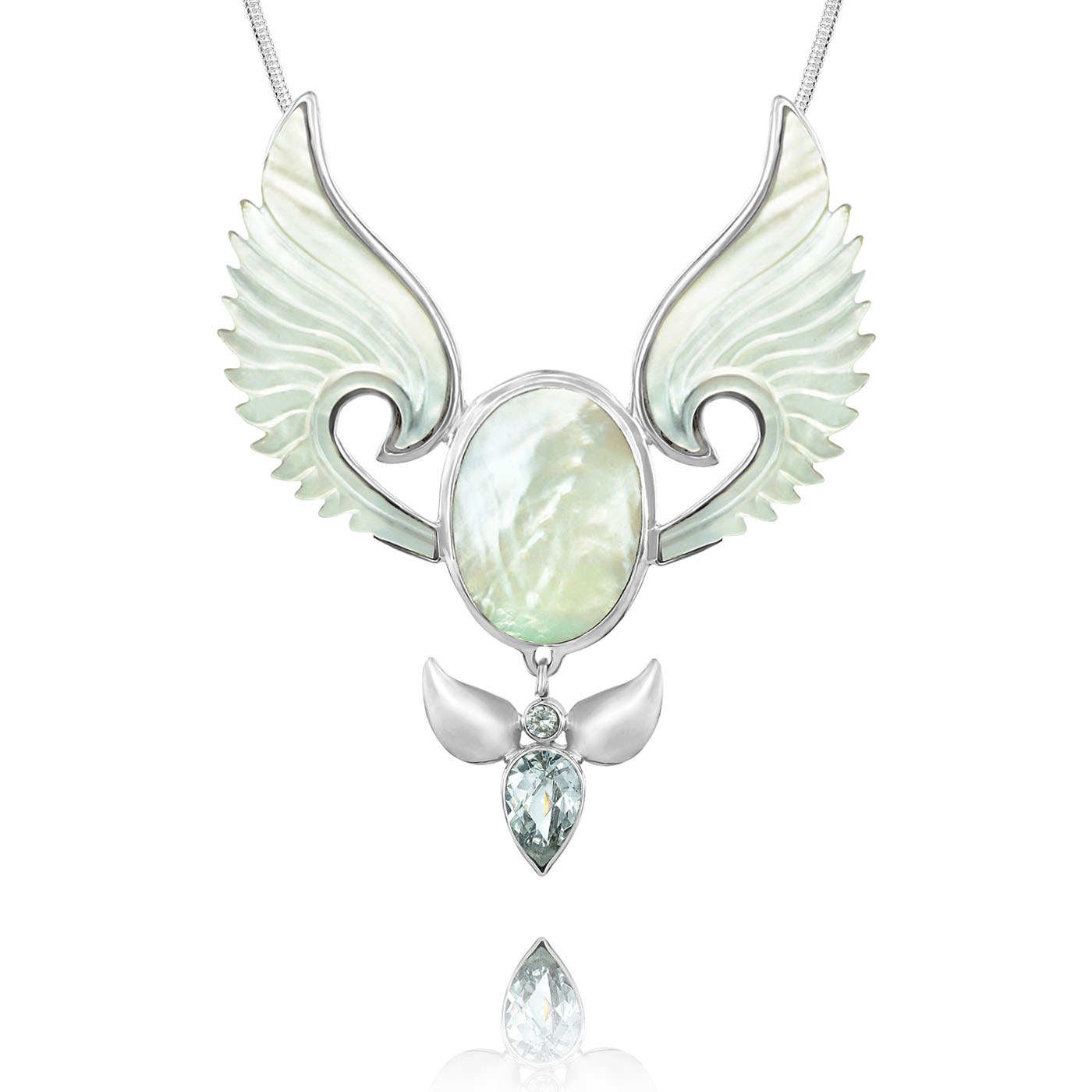 Divine Feminine Pendant Guardian Angel Necklace