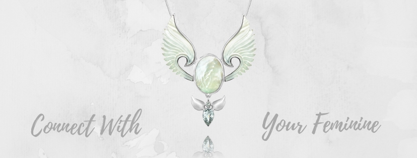 The Divine Feminine Angel Necklace For Your Personal Power