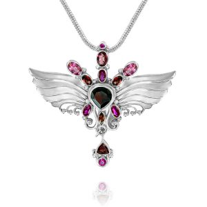 archangel uriel necklace silver