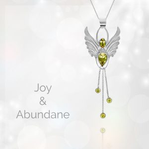 Angel of joy pendant in citrine,
