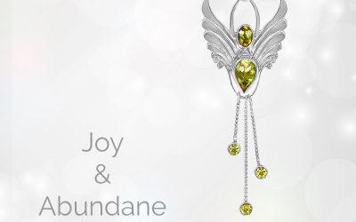 Citrine Angel Pendant. Angel of Joy. Let Your Light Shine.