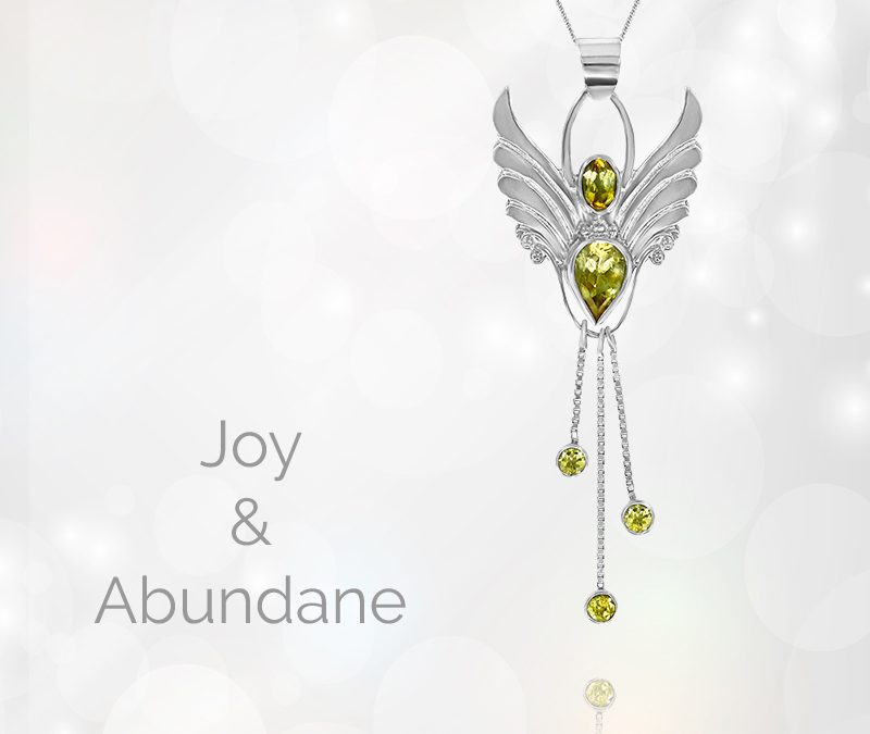 Citrine Angel Pendant. Angel of Joy. Let Your Light Shine.