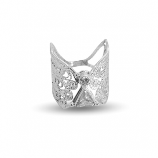 angel ring silver filigree 925 silver