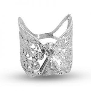 angel ring silver filigree 925