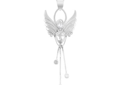 angel necklace for manifesting goals