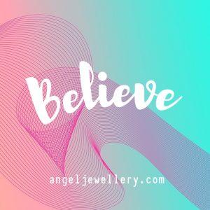 believe angel pendant