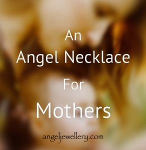 angel necklace for motherhood