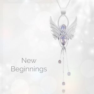 angel necklace for new beginnings