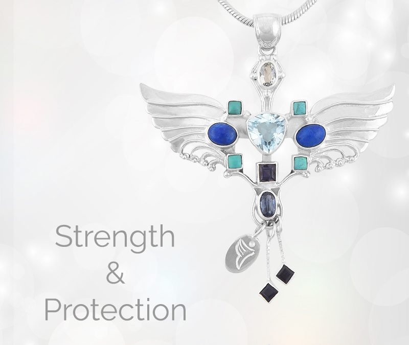 Archangel Michael Pendant Necklace For Strength And Protection.