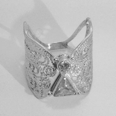 angel jewelry angel ring in silver filigree