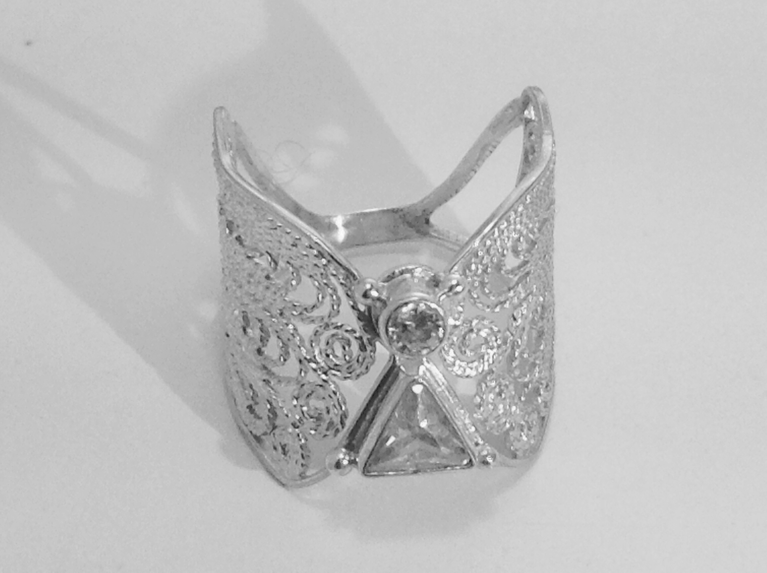 angel jewelry angel ring in silver filigree