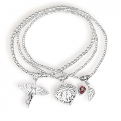 guardian angel charm bracelet stack