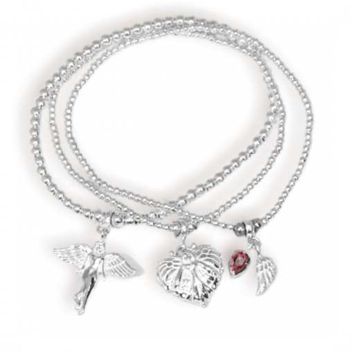 guardian angel charm bracelet stack
