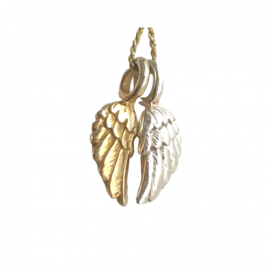 Tiny Angel Wings Pendant Necklace