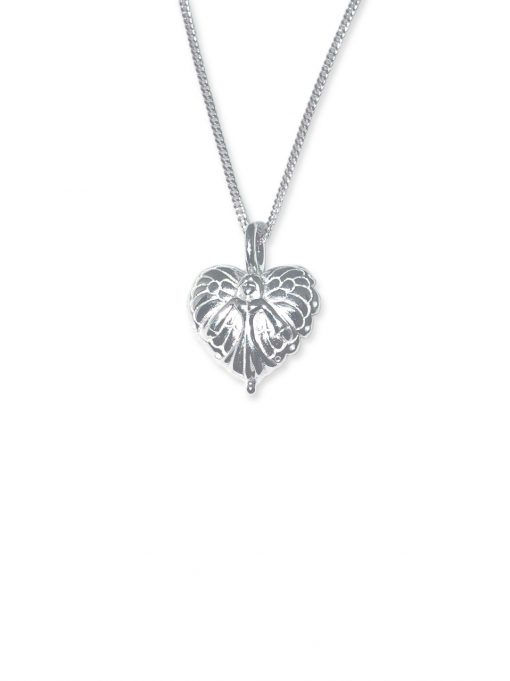 silver guardian angel wings necklace 925 silver pendant and chain