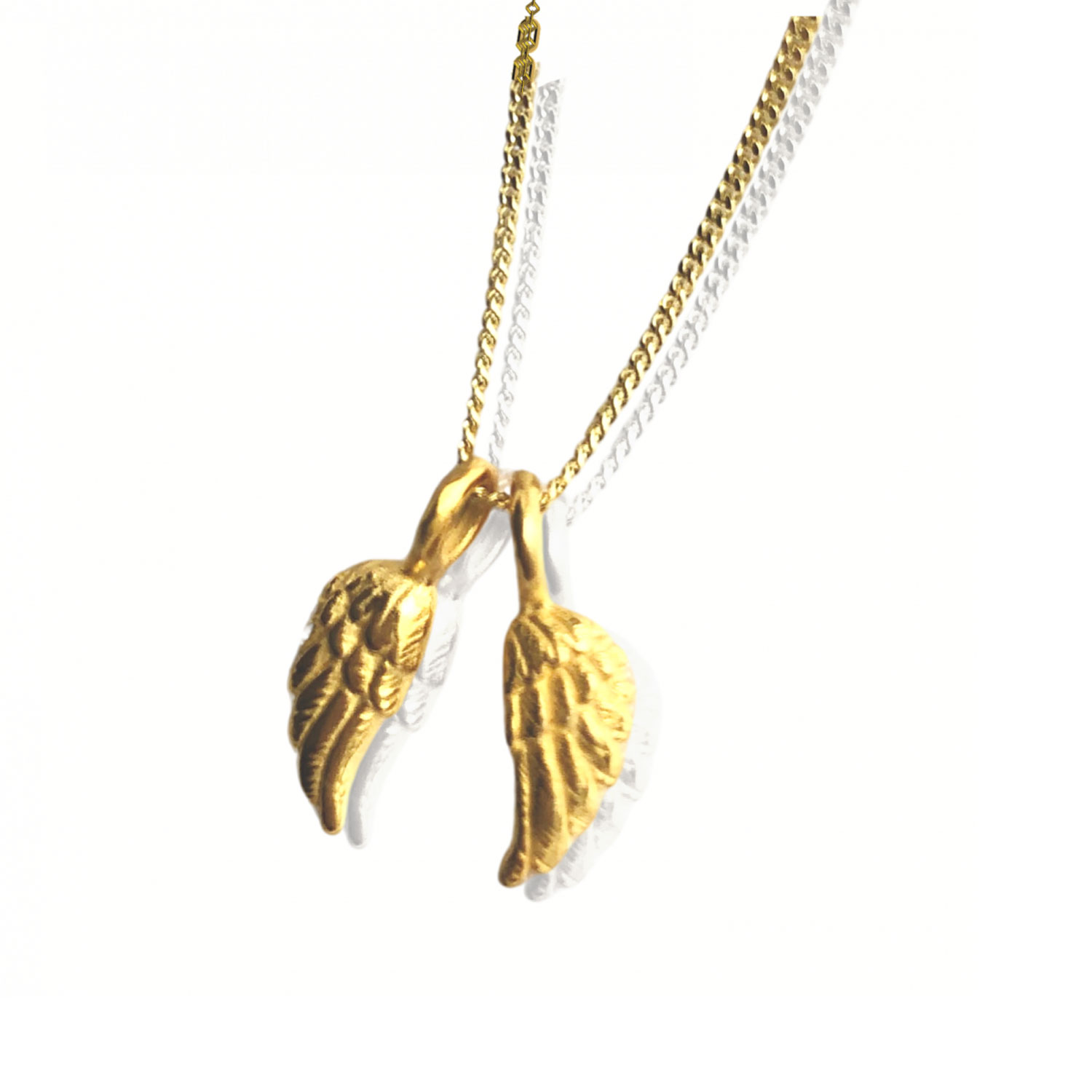 tiny gold angel wings